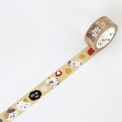 BGM Washi tape Cat series - Cat faces