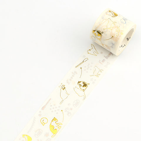 BGM Washi tape Cat series - Cat glitter