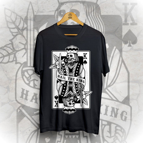Hail The King Front Print Tee - Black