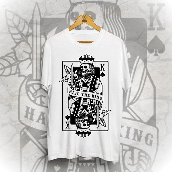 Hail The King Front Print Tee - White