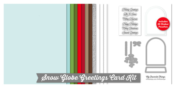 It's Time to Get Merry…Add the Snow Globe Greetings Card Kit to Your Cart Now!