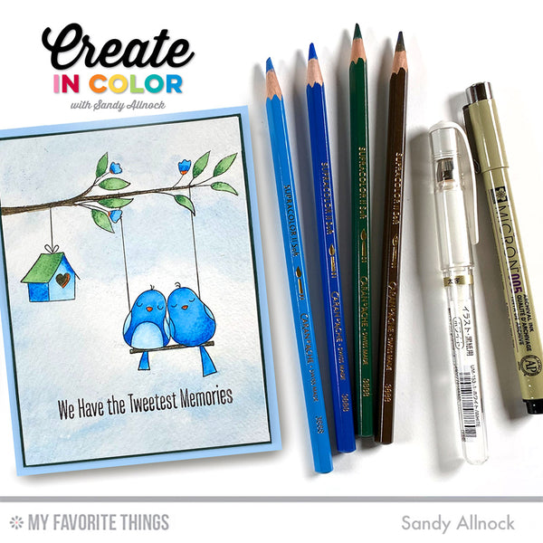 Make Tweet Memories with Sandy Allnock + Your Favorite Watercolor Pencils!