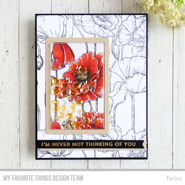 Handmade card from Torico featuring products from My Favorite Things #mfstamps