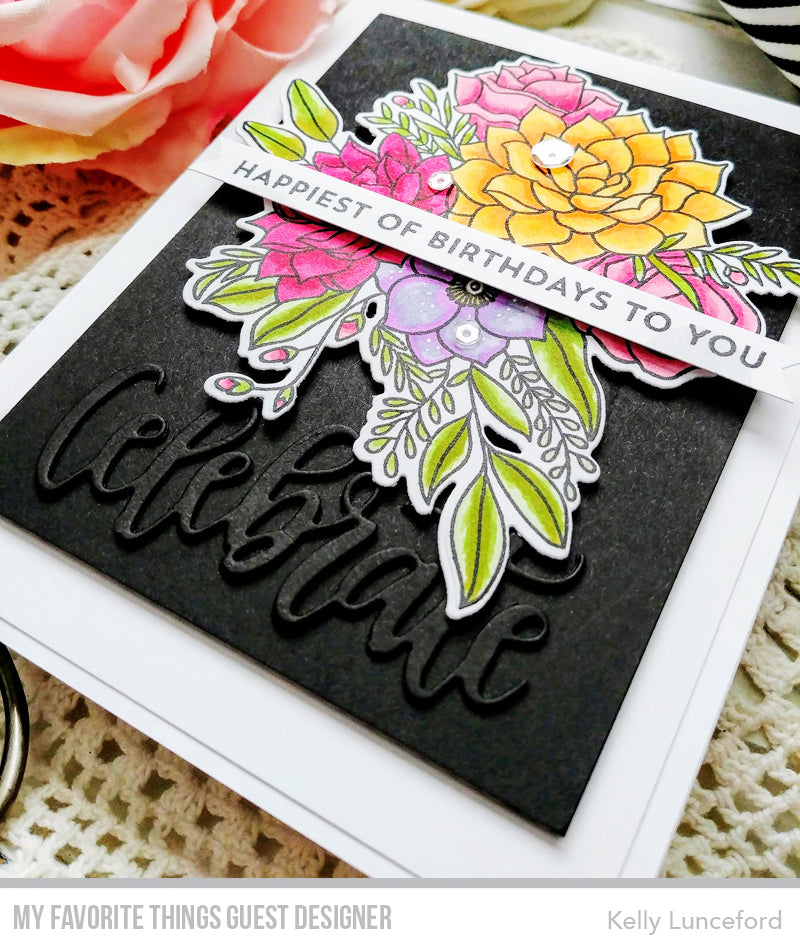 Handmade card from Kelly Lunceford featuring products from My Favorite Things #mftstamps