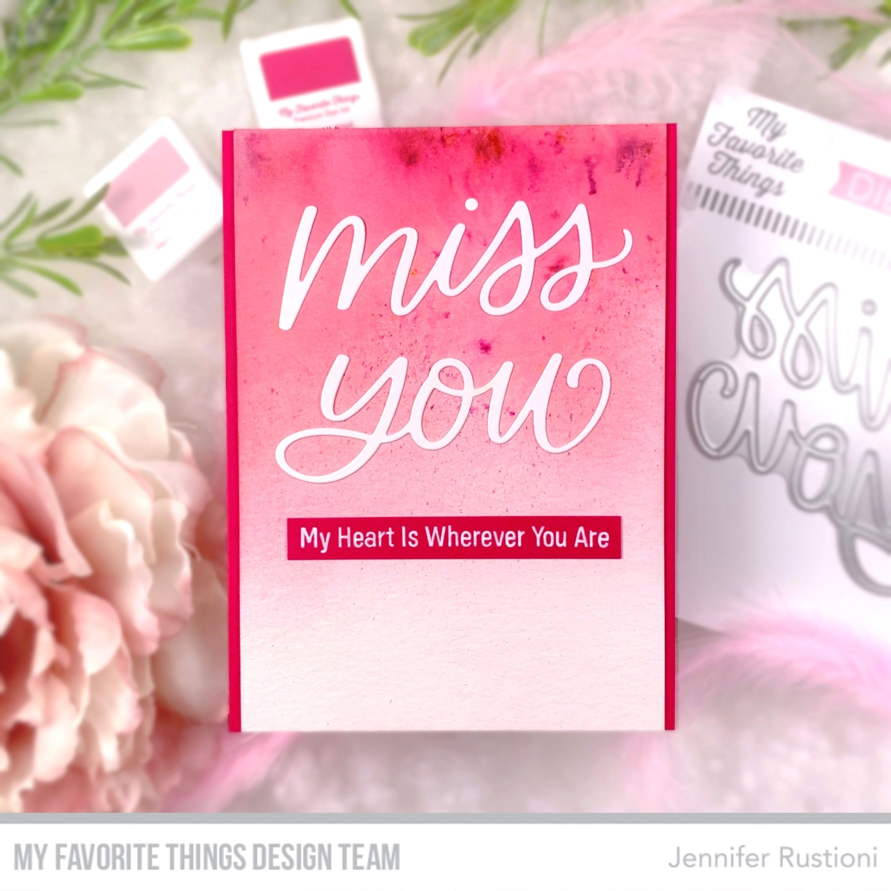 Handmade card from Jennifer Rustioni featuring products from My Favorite Things #mftstamps