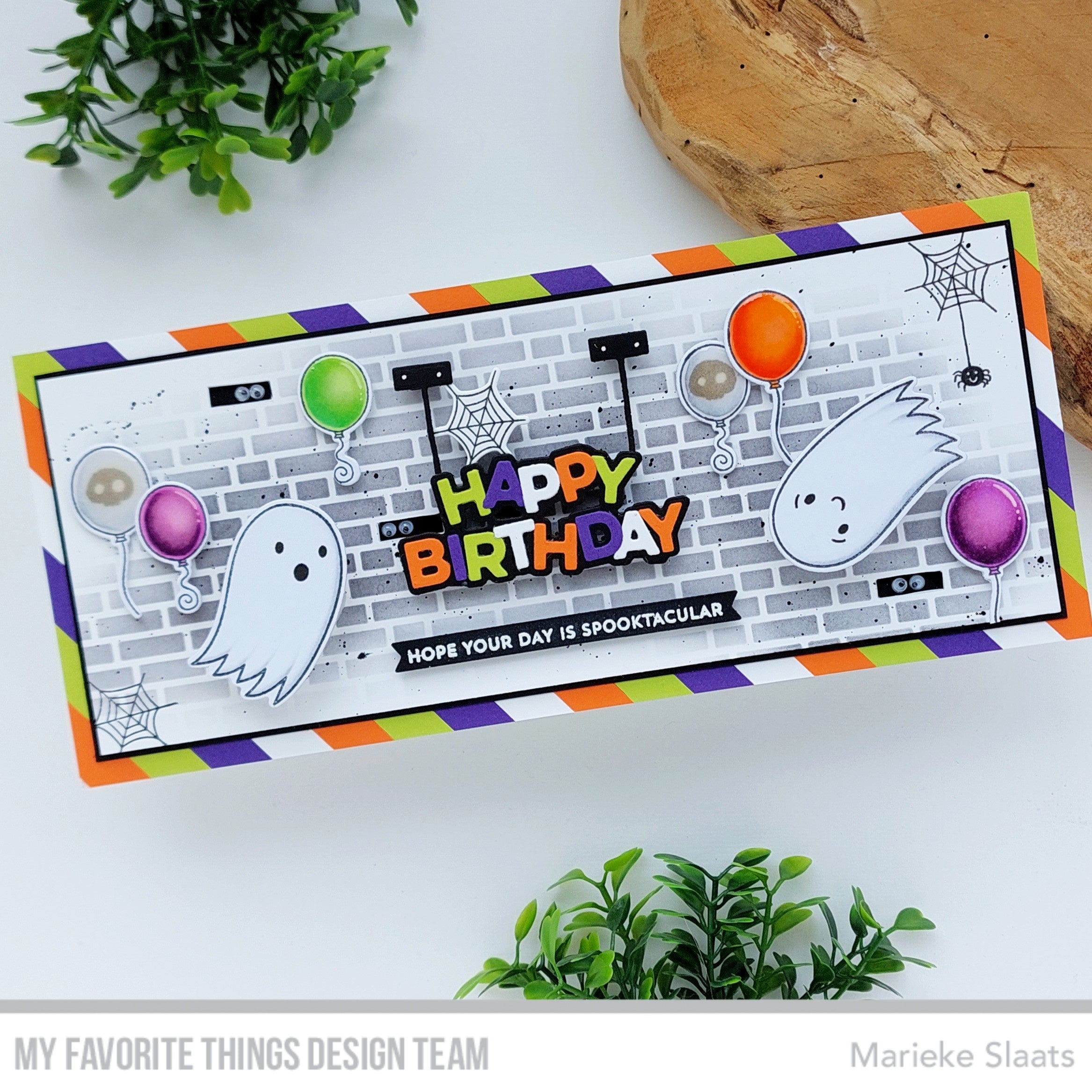 Handmade card from Marieke Slaats featuring products from My Favorite Things #mftstamps