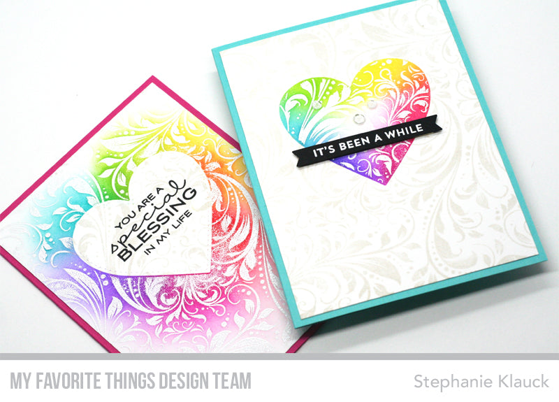Handmade cards from Stephanie Klauck featuring projects from My Favorite Things #mftstamps