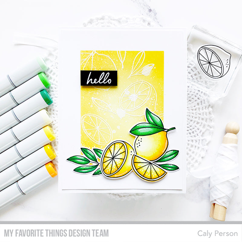 Handmade card from Caly Person featuring products from My Favorite Things #mftstamps