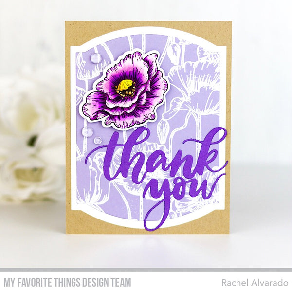 Handmade card from Rachel Alvarado featuring products from My Favorite Things #mfstamps