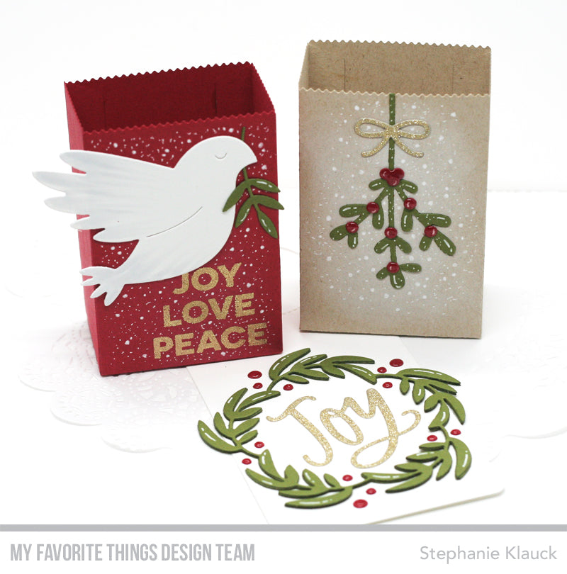 Handmade treat sacks from Stephanie Klauck featuring products from My Favorite Things #mftstamps