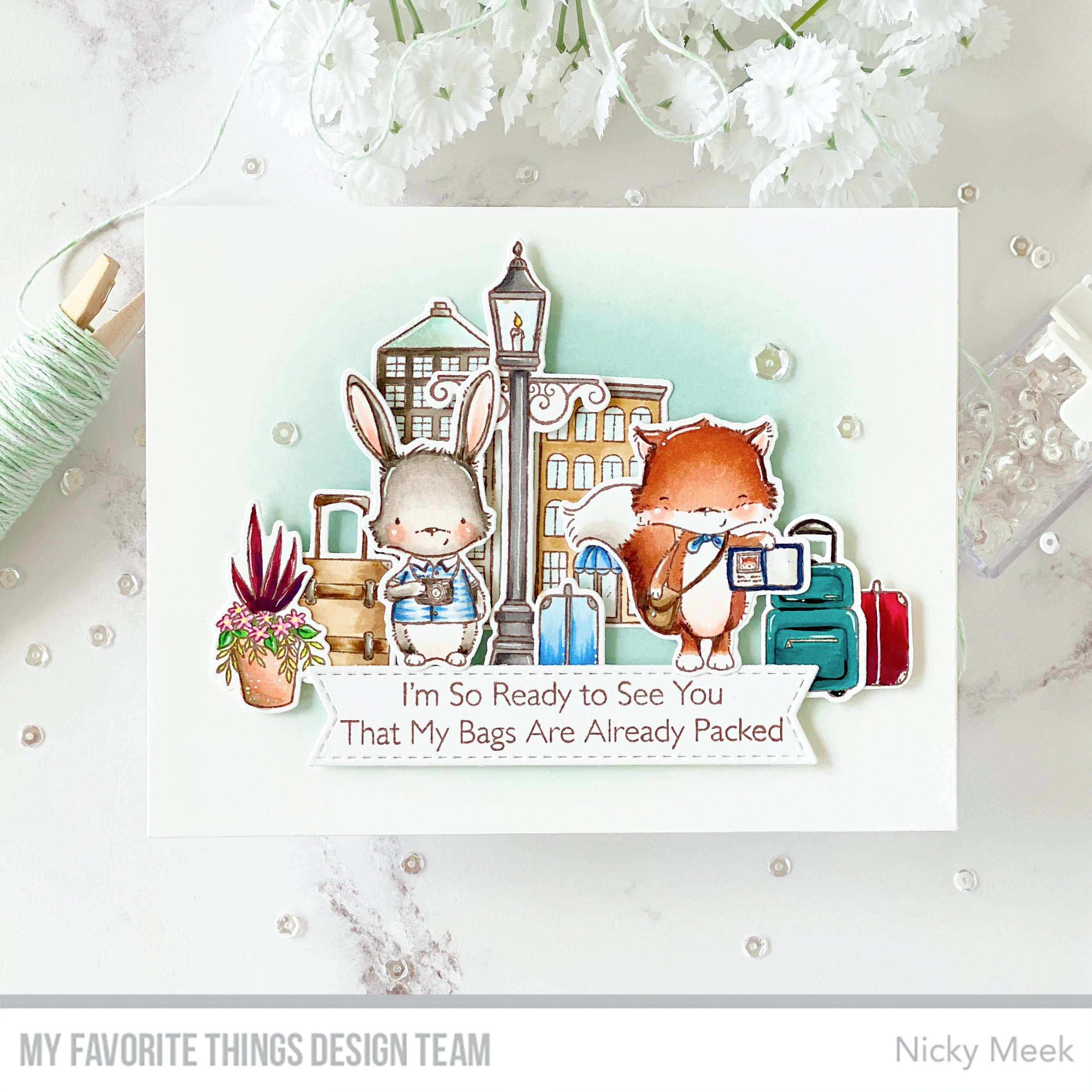 Handmade card from Nicky Meek featuring products from My Favorite Things #mftstamps