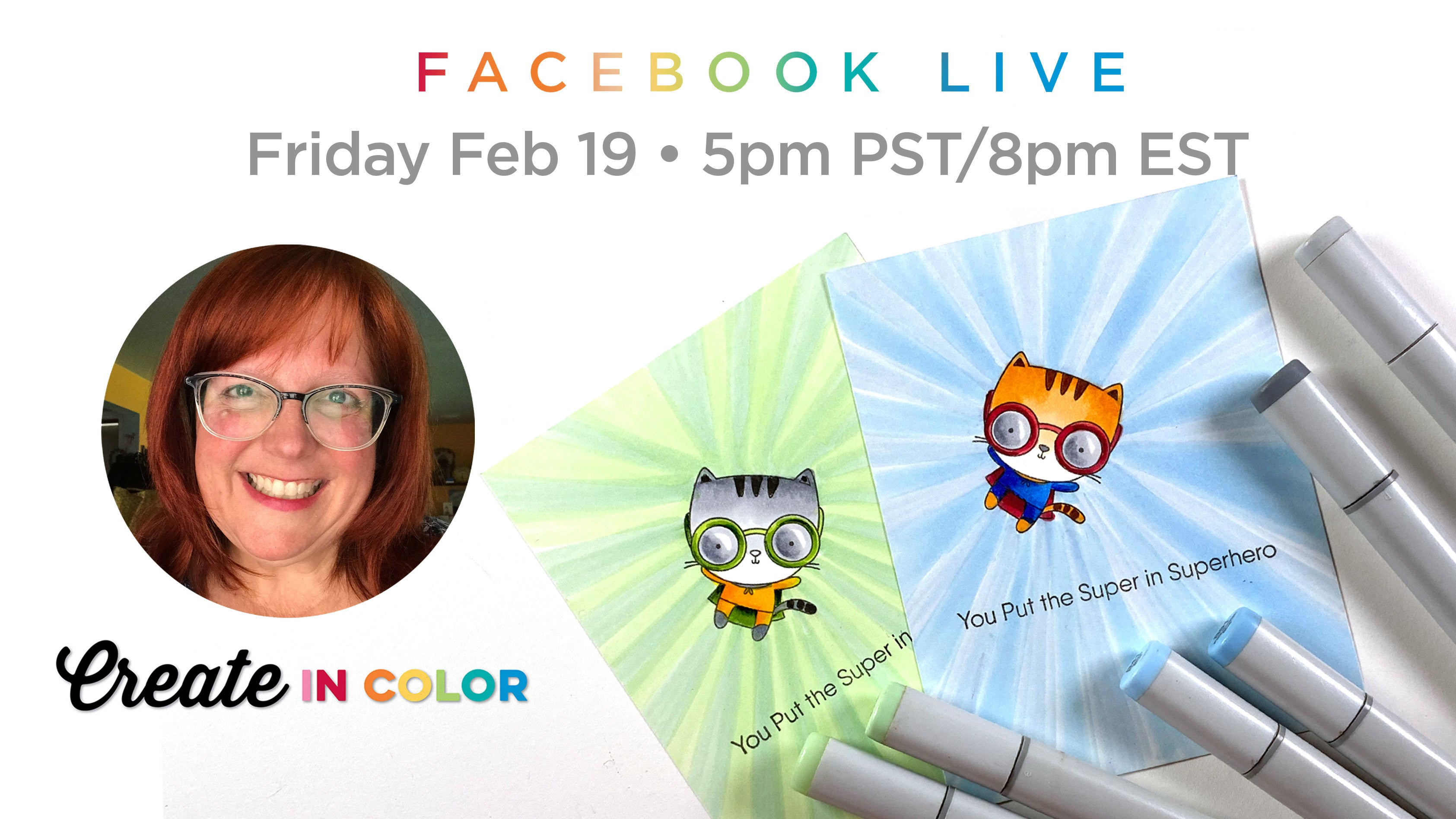 Facebook Live event with Sandy Allnock featuring products from My Favorite Things #mftstamps