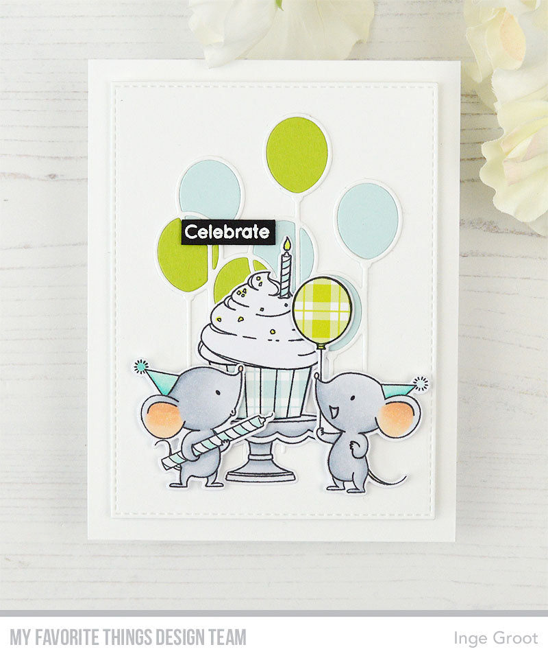Handmade card from Inge Grootfeaturing products from My Favorite Things #mftstamps
