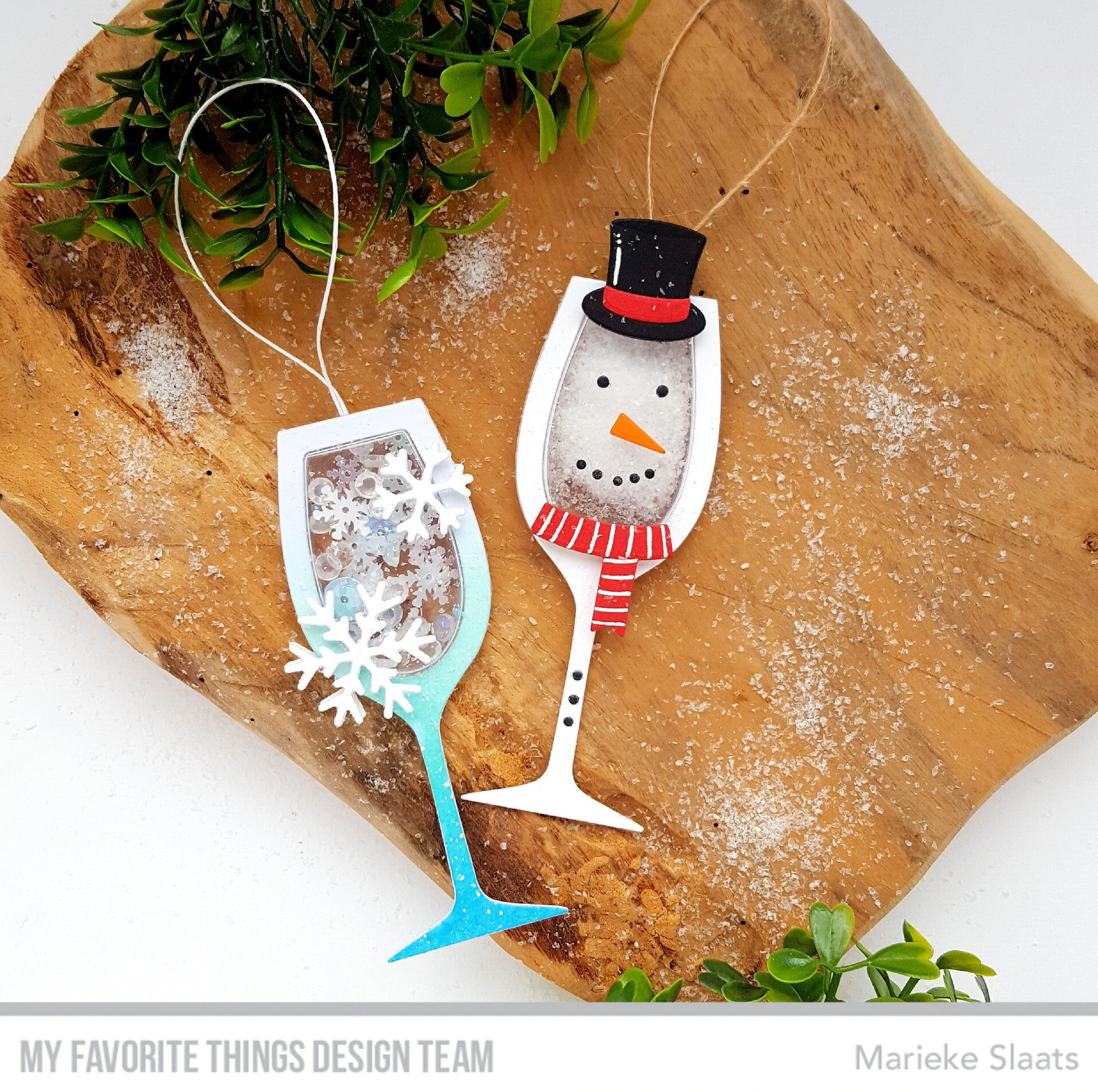 Handmade ornaments from Marieke Slaats featuring products from My favorite Things #mftstamps