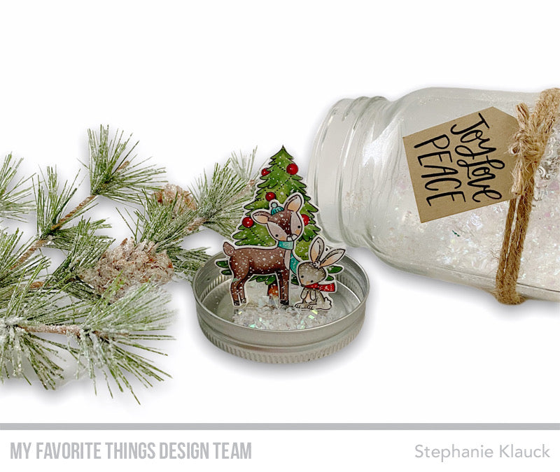 Handmade #christmasfavor from Stephanie Klauck featuring products from My Favorite Things #mftstamps