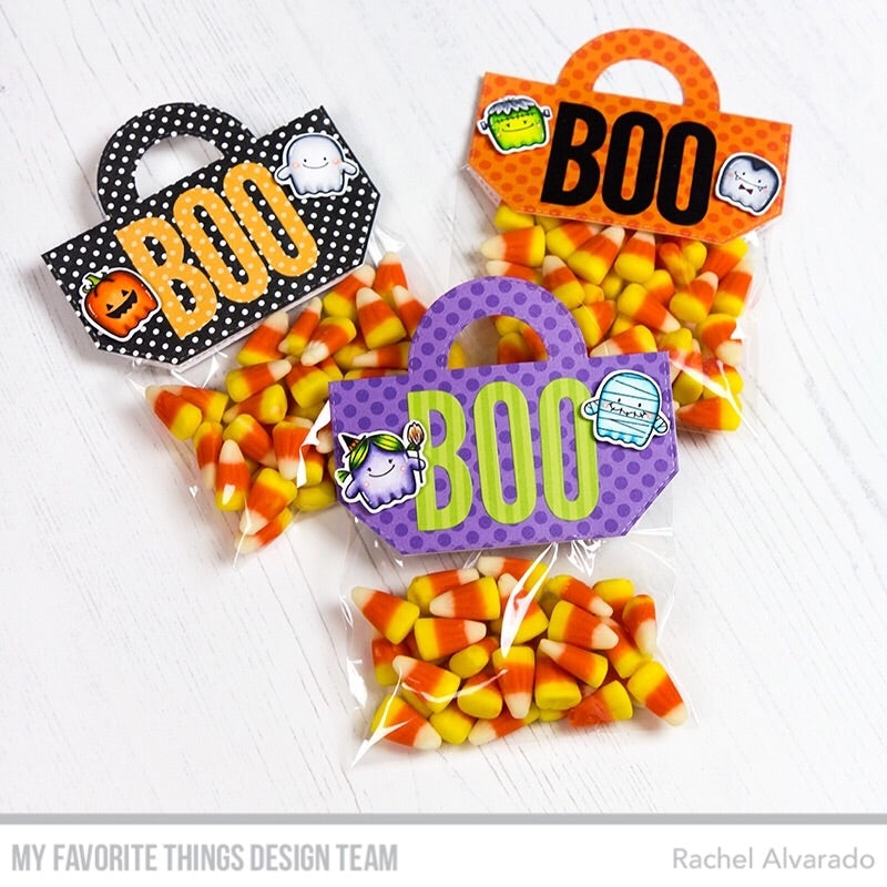 Handmade Halloween treats from Rachel Alvarado featuring products from My Favorite Things #mftstamps