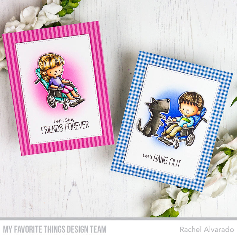 Handmade cards from Rachel Alvarado featuring products from My Favorite Things #mftstamps