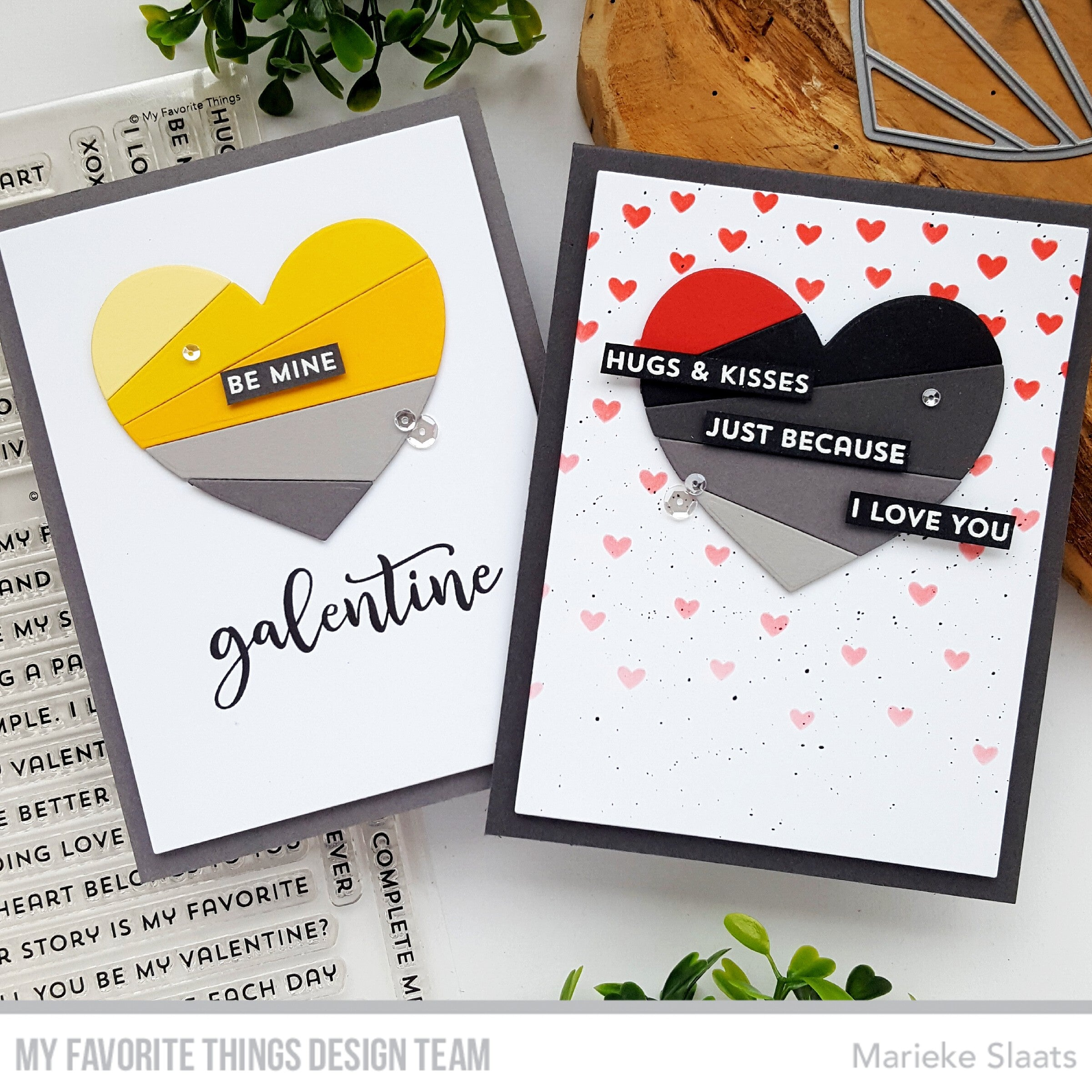 Handmade cards from Marieke Slaats featuring products from My Favorite Things #mftstamps