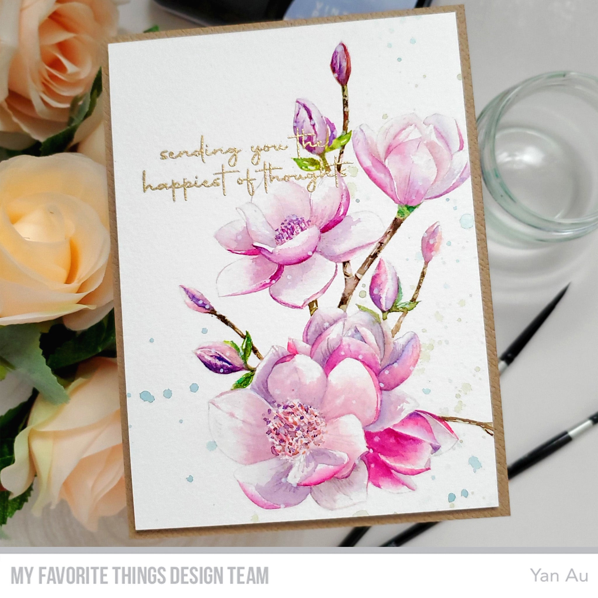 Handmade card from Yan Au featuring products from My Favorite Things #mftstamps