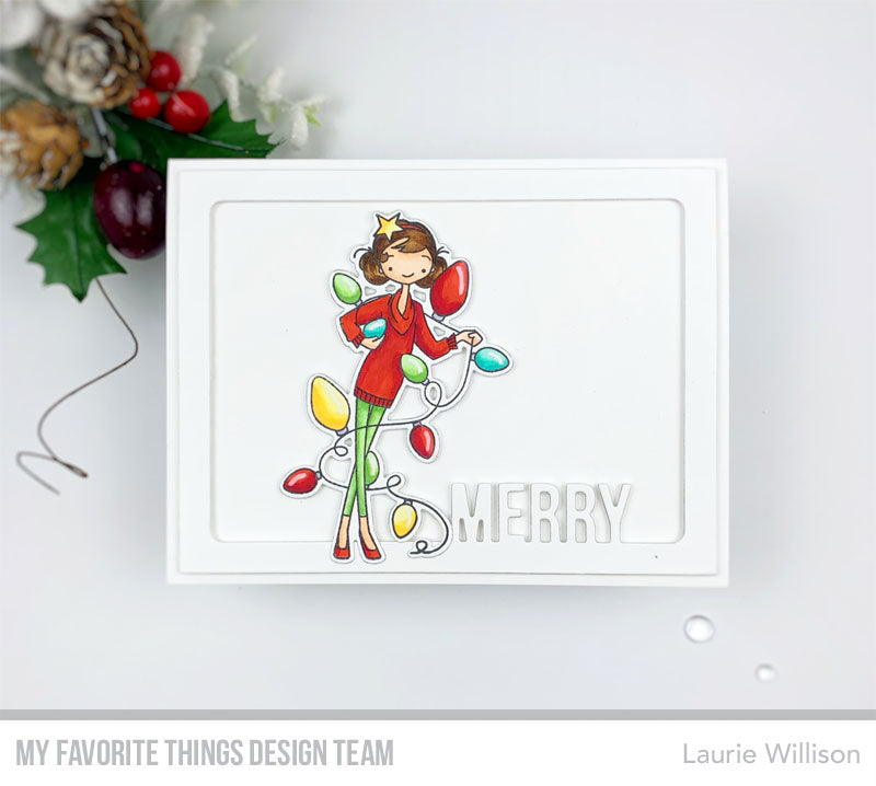 Handmade card from Laurie Willison featuring products from My Favorite Things #mftstamps