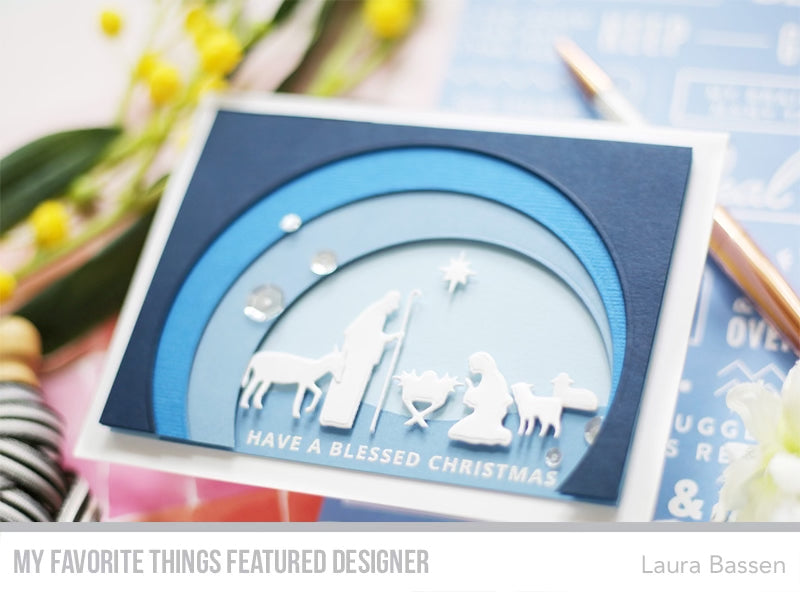 Handmade card from Laura Bassen featuring products from My Favorite Things #mftstamps