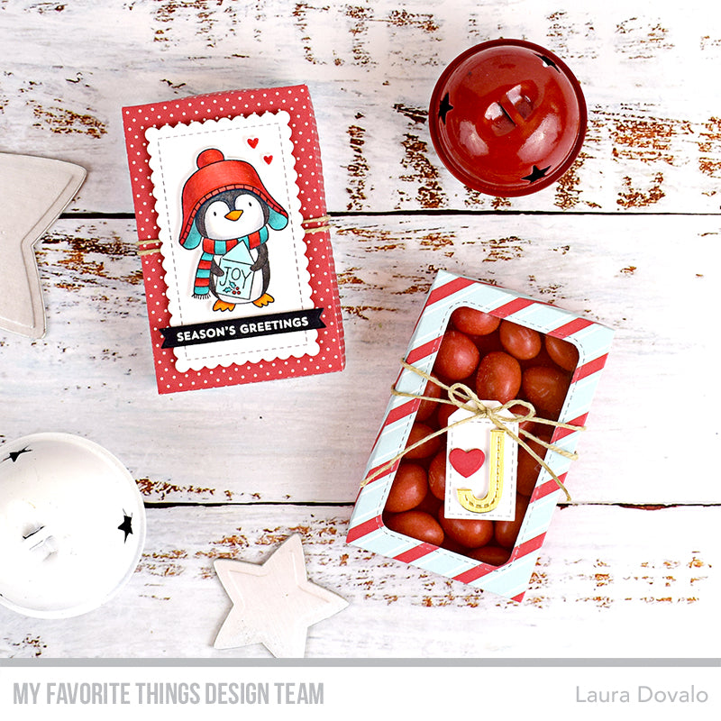 Handmade gift boxes from Laura Dovalo featuring products from My Favorite Things #mftstamps