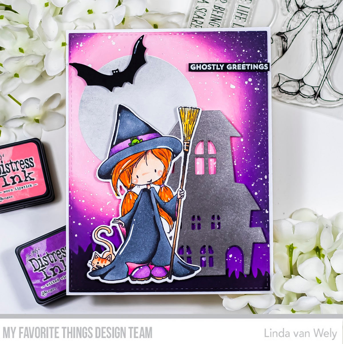 Handmade card from Linda van Wely featuring products from My Favorite Things #mftstamps