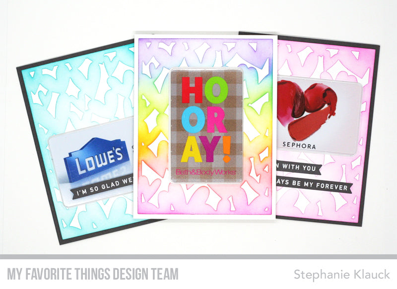 Handmade #valentines from Stephanie Klauck featuring products from My Favorite Things #mftstamps #valentinesday
