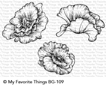 Poppy Blooms stamp set #mfstamps