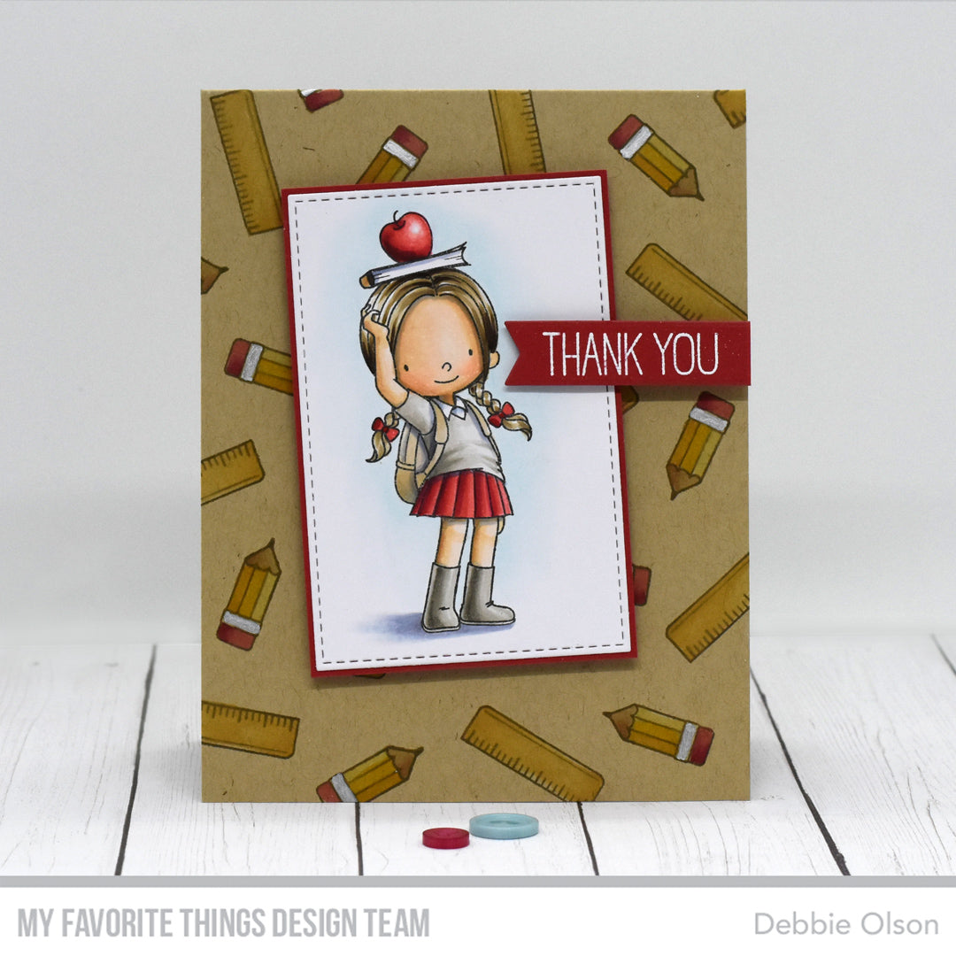 Handmade card from Debbie Olson featuring products from My Favorite Things #mftstamps
