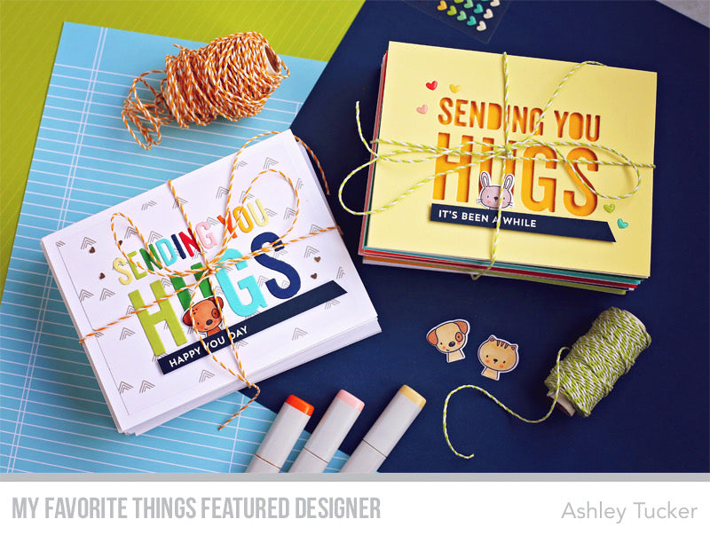 Handmade card sets from Ashley Tucker featuring products from My favorite Things #mftstamps