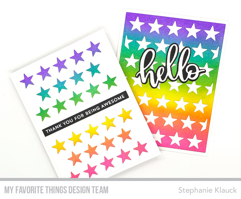 Handmade cards from Stephanie Klauck featuring products from My Favorite Things #mftstamps