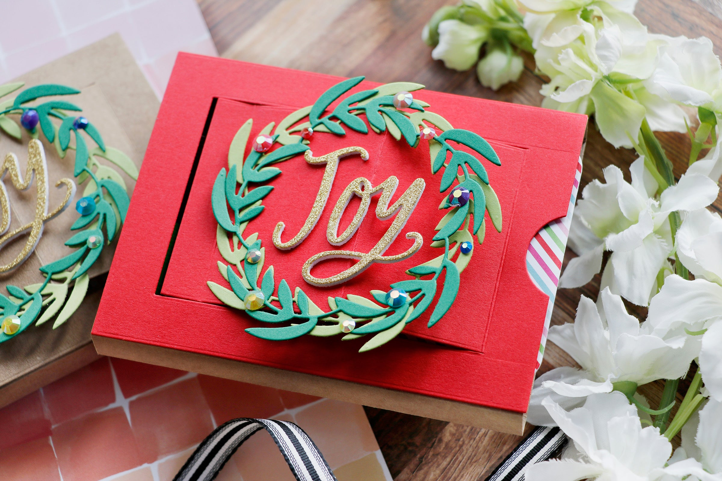 Handmade #stockingstuffer from Laura Bassen featuring products from My Favorite Things #mftstamps #christmascraft