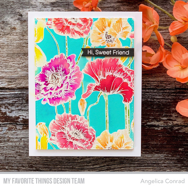 Handmade card from Angelica Conrad featuring products from My Favorite Things #mfstamps