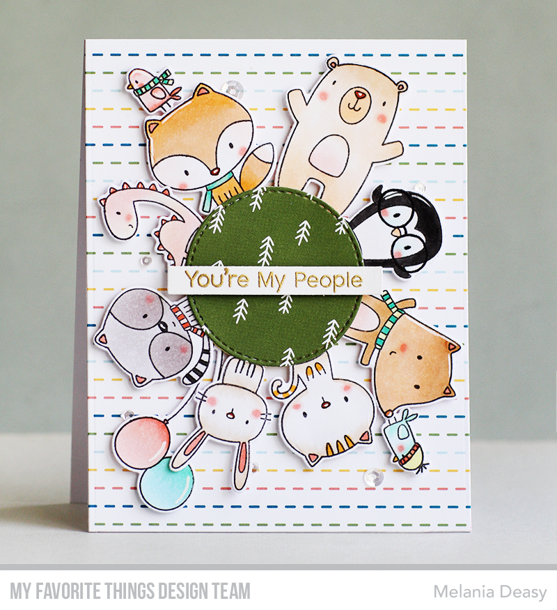 Handmade card from Melania Deasy featuring products from My Favorite Things #mftstamps