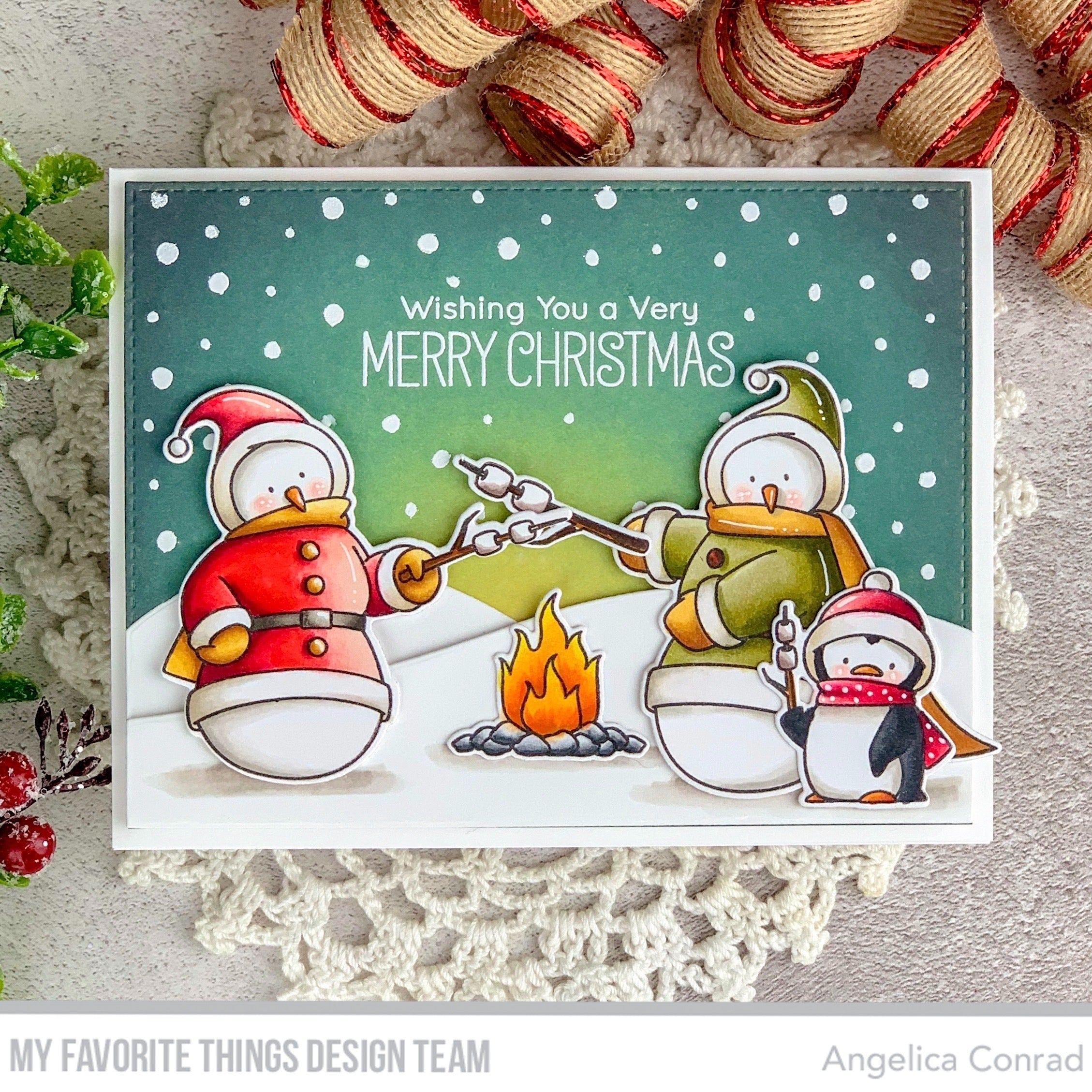 Handmade card from Angelica Conrad featuring products from My Favorite Things #mftstamps
