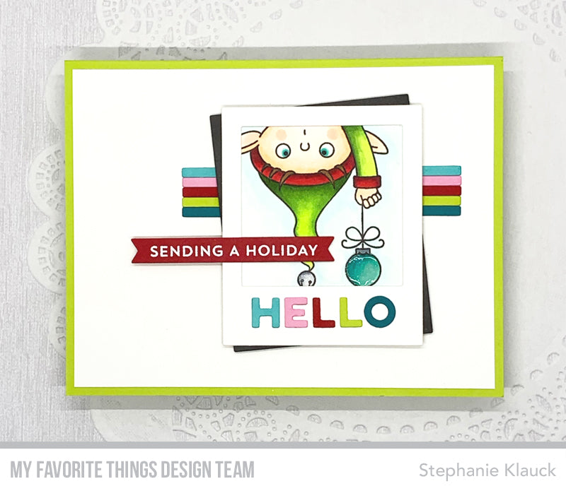 Handmade card from Stephanie Klauck featuring products from My Favorite Things #mftstamps