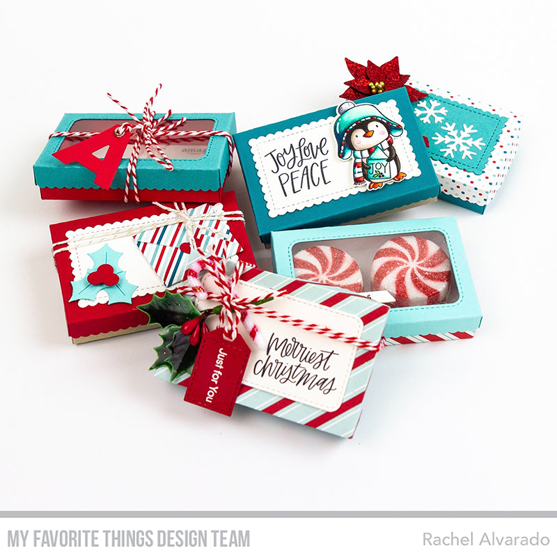 Handmade gift boxes from Rachel Alvarado featuring products from My Favorite Things #mftstamps