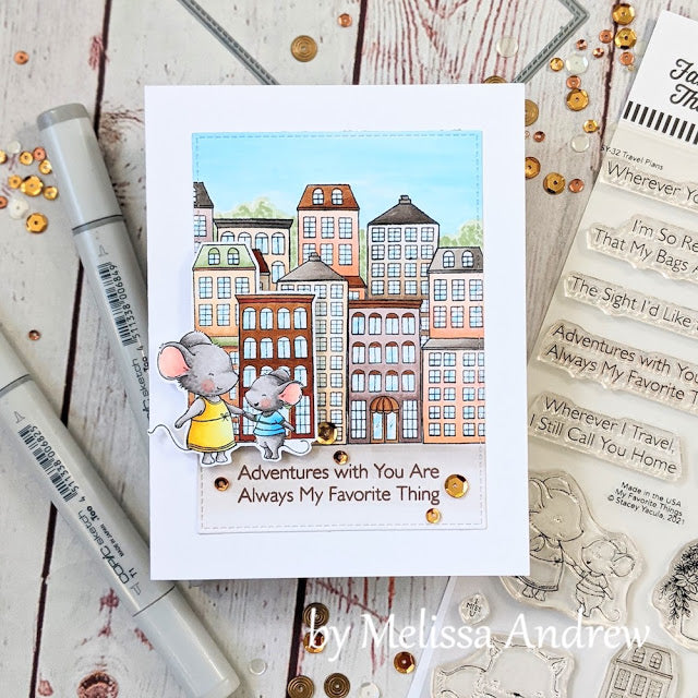 Handmade card from Melissa Andrew featuring products from My Favorite Things #mftstamps