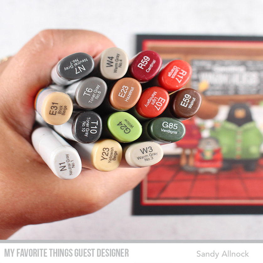 Copic Coloring with Sandy Allnock featuring products from My Favorite Things #mftstamps