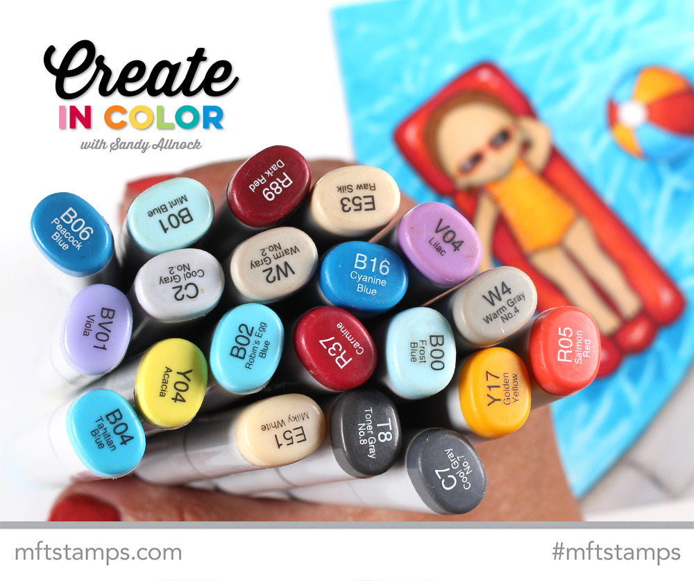 Copic coloring from Sandy Allnock featuring products from My Favorite Things #mftstamps