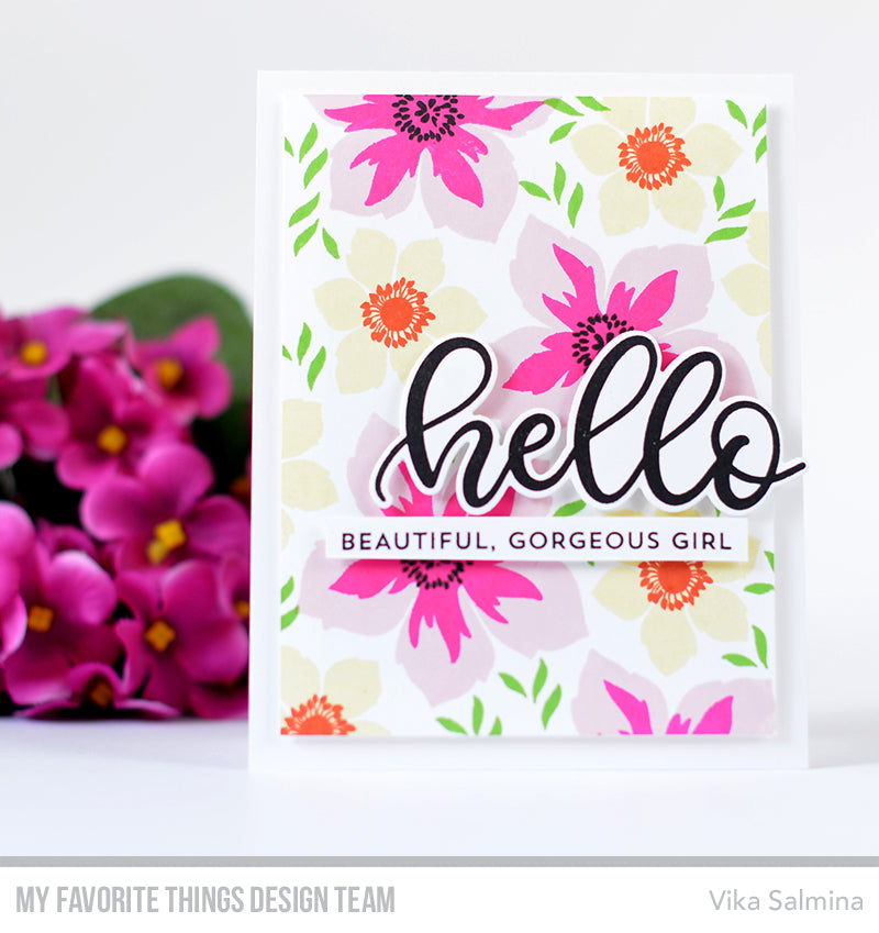 Handmade card from Vika Salmina featuring products from My Favorite Things #mftstamps