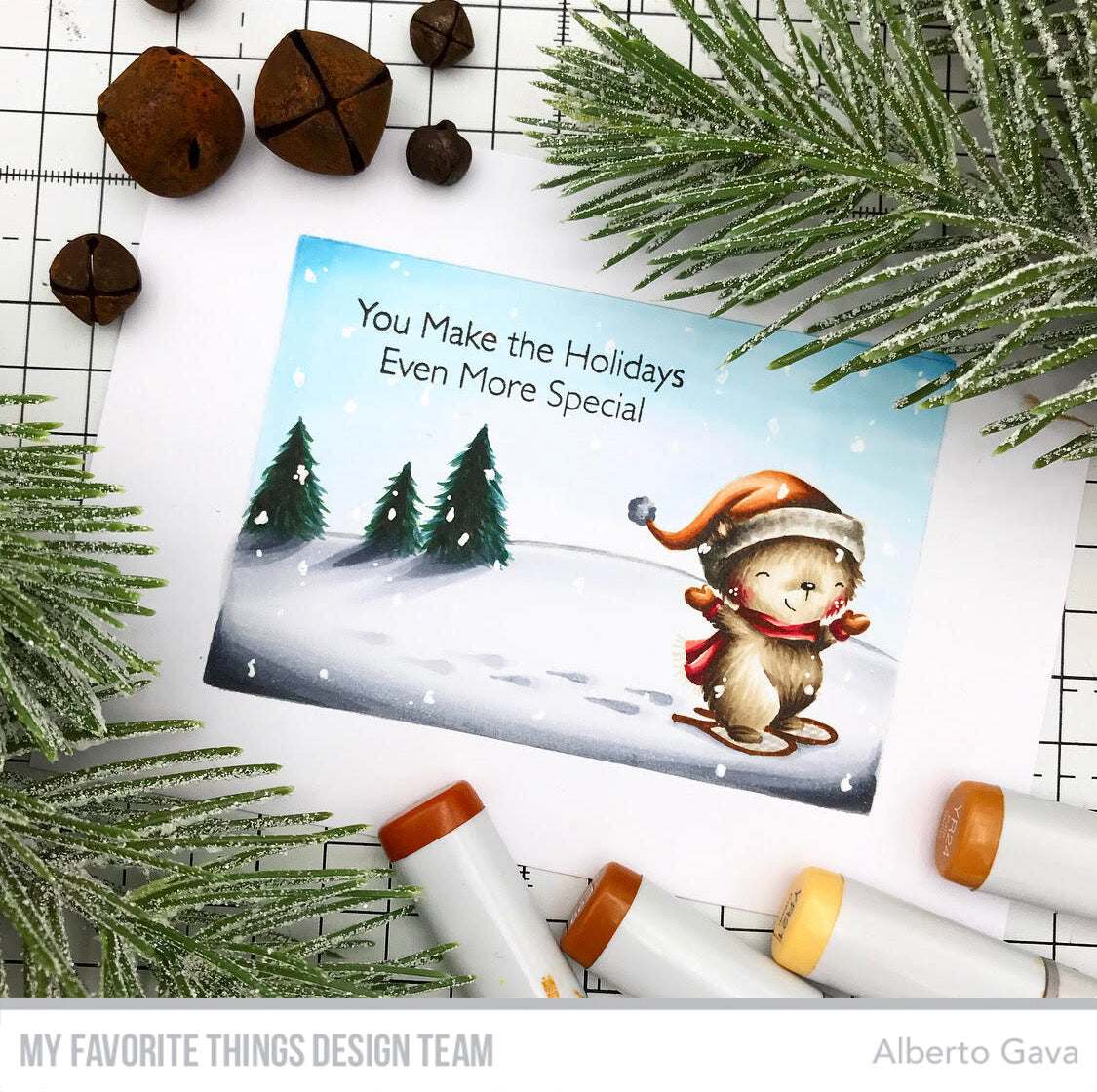 Handmade card from Alberto Gava featuring products from My Favorite Things #mftstamps