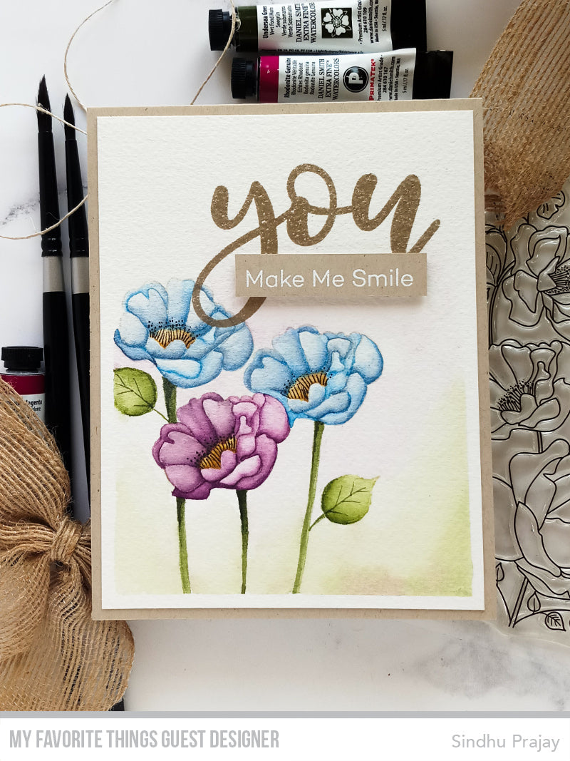 Handmade card from Sindhu Prajay featuring products from My Favorite Things #mftstamps