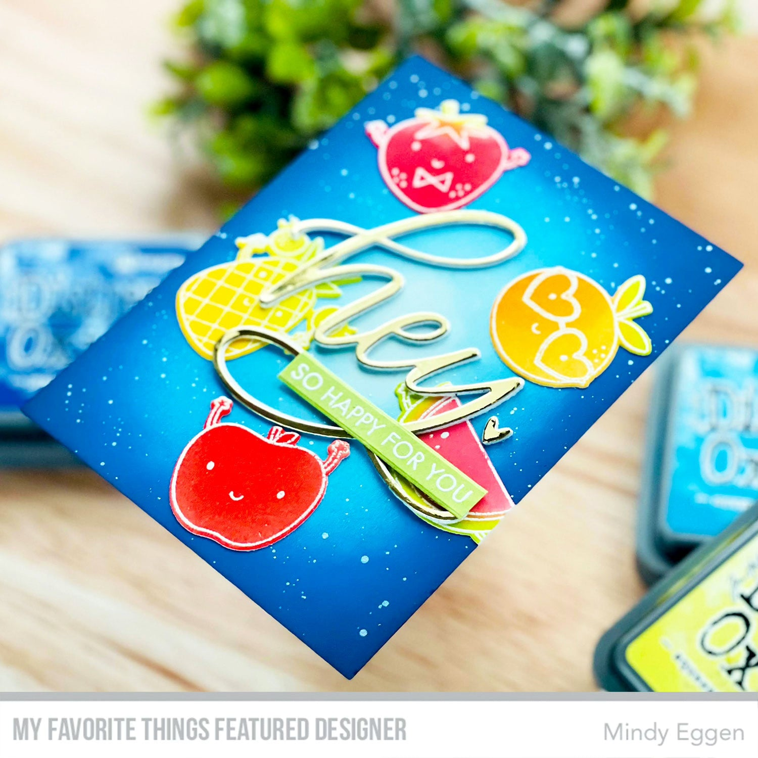 Handmade card from Mindy Eggen featuring products from My Favorite Things #mftstamps