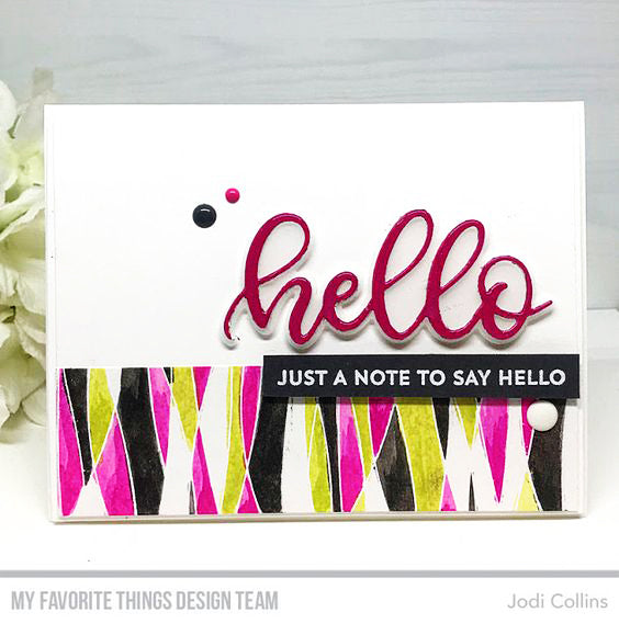 Handmade card from Jodi Collins featuring products from My Favorite Things #mftstamps