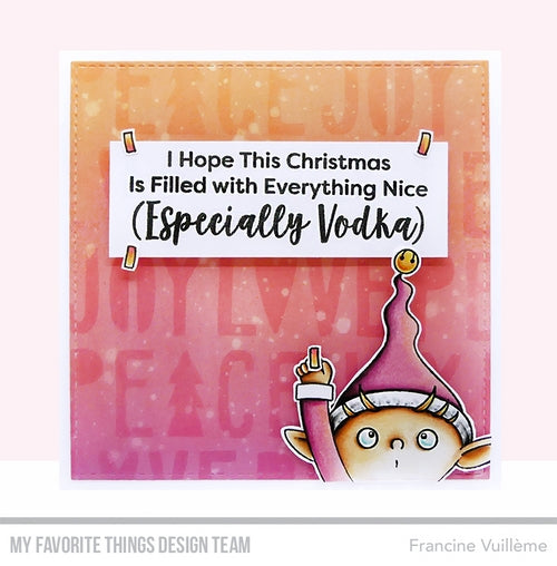 Handmade card from Francine Vuilleme featuring products from My Favorite Things #mftstamps