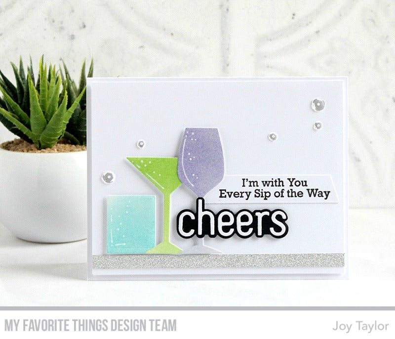 Handmade card from Joy Taylor featuring products from My Favorite Things #mftstamps