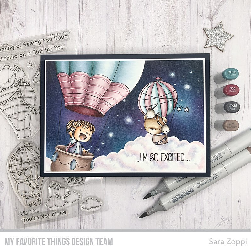 Handmade card from Sara Zoppi featuring products from My Favorite Things #mftstamps