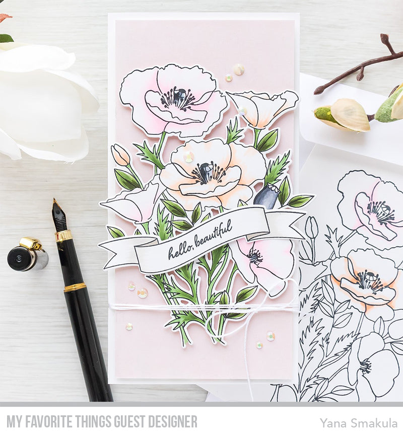 Handmade card from Yana Smakula featuring products rom My Favorite Things #mftstamps